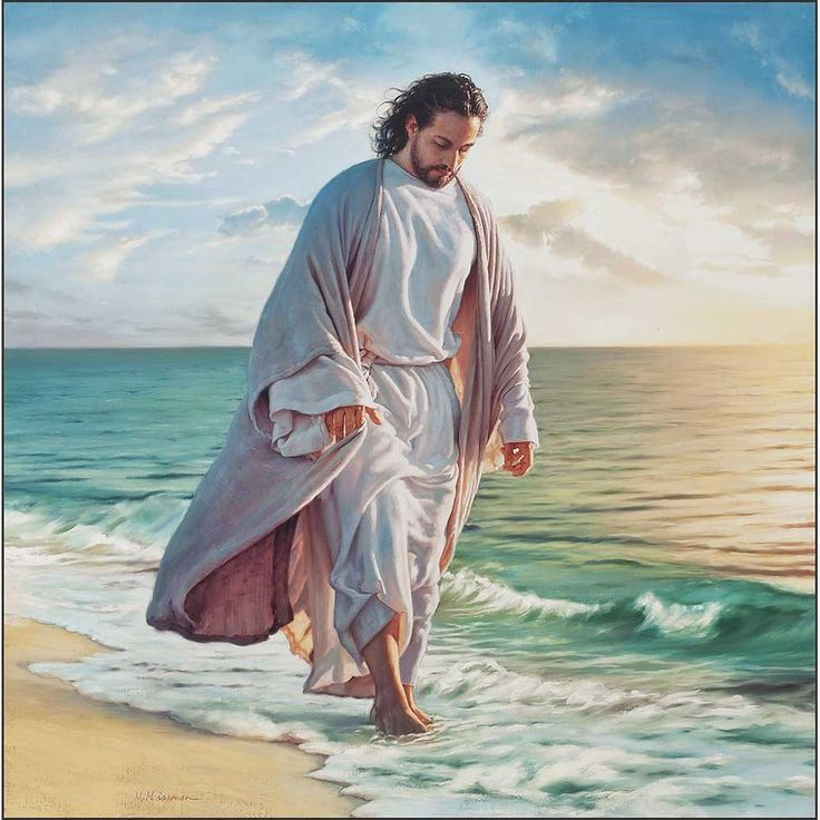 Jesus on the shore; Peter is forgiven